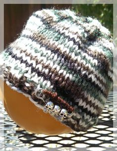 Camouflage Hand Knit Newborn Baby Beanie Hat by LilRedKnittingHood, $18.00