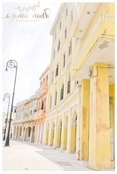 Pastel Buildings in Old Havana Print Photography by Ayenia Nour NYC Havana Destination  Weddings www.ayenianour.com