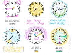 Hojas de trabajo para descargar con actividades del reloj. Ejercicios sencillos para aprender las horas. Reloj de agujas. Hojas de trabajo para descargar.