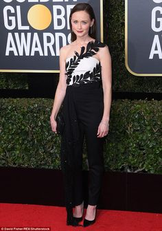 Gilmore Girl: Alexis Bledel, 36, was on the Golden Globes red carpet at the Beverly Hilton...