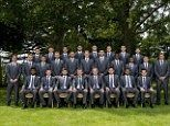 Say cheese: England players posed in their suits for the World Cup team photo before flying out to Miami