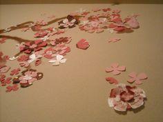 Cherry Blossom Mural - Baby Juliette Room <3