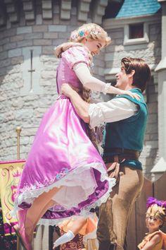 Rapunzel and Flynn Disney Rapunzel, Walt Disney, Disney Couples, Disney Love, Disney Magic, Disney Parks, Disney Fairies, Disney And Dreamworks, Disney Pixar