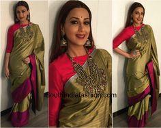 Sonali Bendre in Payal Khandwala – South India Fashion Indian Dresses, Indian Outfits, Payal Khandwala, Hot Pink Blouses, India Fashion, Saree Fashion, Saree Blouse Neck Designs, Indian Sarees, Ethnic Sarees