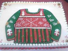 Ugly Sweater Cake #uglysweater