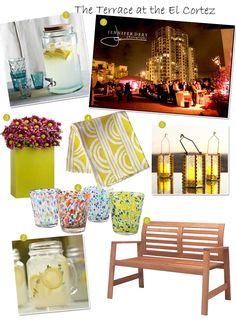 Some Great Ideas for the Terrace, #elcortez, #donroom, #sandiego, #greatweddingshappen, #greatevents, #weddings, #weddingdesign