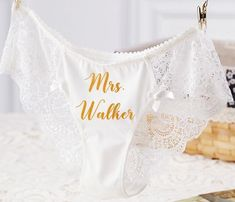 Customized Lace Bridal Panties