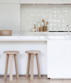Houten kruk keuken