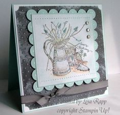 - Long Time Friend by lesarapp - Cards and Paper Crafts at Splitcoaststampers Cards For Friends, Friend Cards, Long Time Friends, Square Card, Friendship Cards, Basic Grey, Mothers Day Cards, Card Kit, Stamping Up