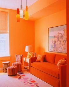 Salas Decoradas En Naranja