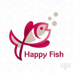Happy Fish Logo Templates #logo #design