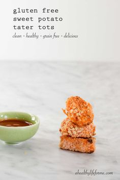 Sweet potato tater tots, Tater tots and Paleo cookbook on Pinterest