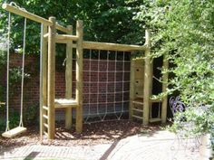 Double tower climbing Frame