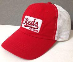 sga promo CINCINNATI REDS HAT relaxed fit dad semi mesh script Women Men Teen #SGAPROMOitem #CincinnatiReds