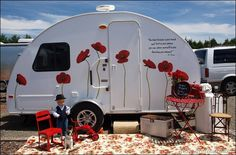 Seuss 1 trailer camper glamping I love the poppies!