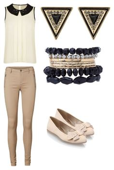 """""""Simple But Effective"""" by luisadaniela ❤ liked on Polyvore featuring Darling, Vero Moda, House of Harlow 1960, Charlotte Russe and Qupid"""