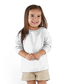 RS3302 Rabbit Skins Drop Ship Toddler Fine Jersey Long Sleeve T-Shirt