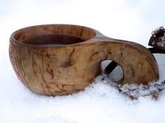 The Kuksa (or Guksi (Sámi), Kåsa (Swedish)) is a traditional wooden cup originally made by the indigenous people of Lapland.