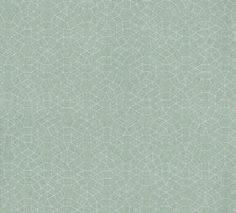 Eidos Jade (7224 0412) - Camengo Wallpapers - A stylised small print geometric motif. Shown here in metallic silver on background of shades of jade green. Other colour way available. Pattern repeat 16cm. A paste the wall product. Please request a sample for true colour match.