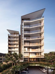 Gold Coast Beachside Undersupply Answered With 'The Jefferson' TheUrbanDeveloper com is part of Facade architecture - Architecture Design, Futuristic Architecture, Residential Architecture, Condominium Architecture, Building Exterior, Building Facade, Building Design, Design Exterior, Facade Design