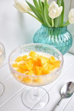 Jackfruit and Coconut Panna Cotta ⋆ SomeTyme Place Ripe Jackfruit, Light Desserts, Asian Desserts, Easy Desserts, Unique Recipes, Asian Recipes, Cambodian Desserts, Juicy Fruit Gum
