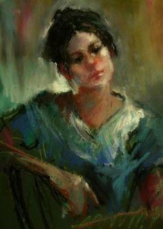 oil pastel art   - original oil pastel portrait by Connie Chadwell, original painting ...