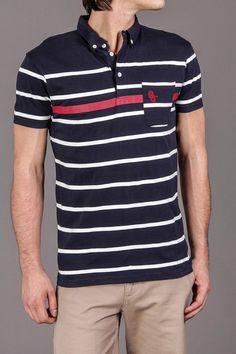 Striped Polo Shirt #MenStyle #MensFashion