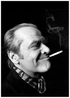 Jack Nicholson by Helmut Newton  This photo is probably the most similar to our chosen one as it uses the same style of lighting with a hard light background the same as ours also this only lights up a section of the his face
