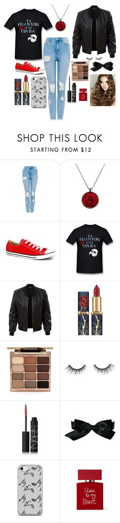 """""""phantom of the opera"""" by chloebinford on Polyvore featuring Converse, LE3NO, Stila, tarte, NARS Cosmetics, Chanel, Music Notes and Bella Freud"""