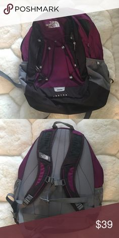 Northface backpack Purple, black and gray backpack from Northface. Excellent condition, doesn't look like it's even been used. The North Face Bags Backpacks