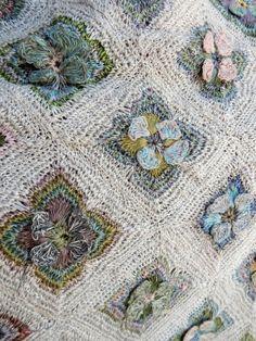 Sea Life Scarf - Sophie Digard crochet by Lisbeth Johansen Manta Crochet, Freeform Crochet, Crochet Art, Knit Or Crochet, Crochet Granny, Crochet Scarves, Crochet Motif, Crochet Shawl, Crochet Designs