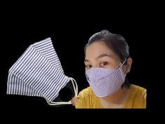 How to sew a simple mask / The size of the fabric is 32 x . ( Chuẩn bị vải x ). Sewing Hacks, Sewing Tutorials, Sewing Crafts, Sewing Projects, Diy Mask, Diy Face Mask, Face Masks, 3d Face, Creation Couture