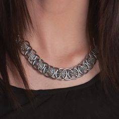 Rapt In Maille   Handmade Chainmaille Jewelry by Melissa Banks   Stainless Steel   Chicago — WOVEN Medium Pattern Necklace