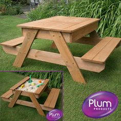 Plum Sand Box and Picnic Table