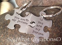 Custom Hand Stamped Best Friends you are my by SayWhatCreations