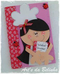 Caderno de receitas da minha professora Elaine.   Caderninho da Maria Fernanda, filha da minha amiga Claudinha.   Estes caderninhos fofos ...