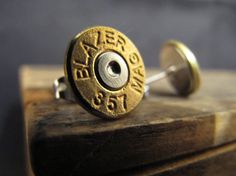 357 Magnum Bullet Earrings by MischiefOfMice on Etsy