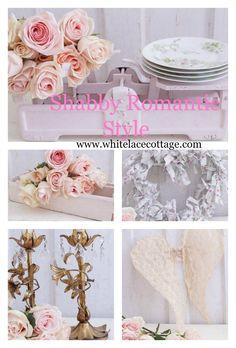 DIY Vintage Shabby Wallpaper Door - White Lace Cottage
