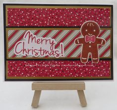 Tinyrose's Craft Room: Simple Gingerbread Man Christmas Card made with the Christmas Cookie stamp set from Stampin Up