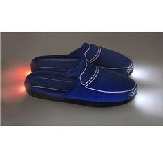 Тапки с подсветкой Тапкомобили Car-Tapki, синие - фото