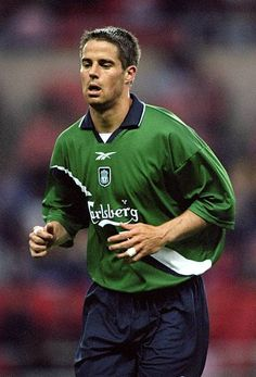 Jamie Redknapp of Liverpool in action during the League Championship Challenge match against Sunderland played at the Stadium of Light in. Liverpool Fc, Liverpool Legends, Liverpool Football Club, Jamie Redknapp, Michael Owen, Sport Icon, Sunderland, Challenges, Mens Tops
