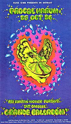 Psychedelic Postcards, Grande Ballroom, Detroit | Retronaut