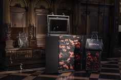 New flower pattern for the luxury travel collection of #Bertoni1949