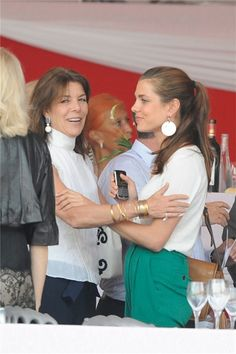 June 24, 2011 - Princess Caroline with her daughter, Charlotte Casiraghi ( daughter & granddaughter of the late Princess Monaco to Monaco)