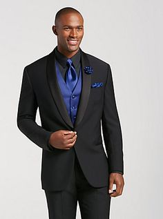 Get your tuxedo rental today from Men's Wearhouse. View our collection of men's tuxedos and formalwear for weddings, proms & formal events. Rent a tux now! Black Tux Wedding, Tuxedo Wedding, Wedding Suits, Wedding Attire, Wedding Groom, All Black Tux, Black Tuxedo, Tuxedo For Men, Senior Prom