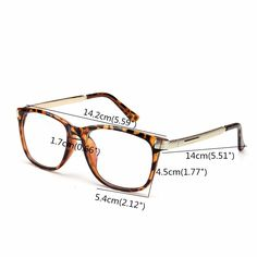 Unisex Women Men Retro Eyeglass Frame Full-Rim Clear Lens Metal Plain Glasses at Banggood