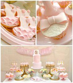 Ballerina themed birthday party via Kara's Party Ideas KarasPartyIdeas.com #ballerinaparty #balletparty #pinkballerina Cake, decor, supplies...