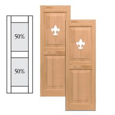 Exterior Solutions - Traditional Wood Raised Panel Shutters w/ Center Mullion & Cutout - they have other designs for the cut-out. Would look cute on our front windows.