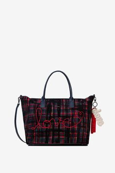Shop the coolest Desigual women's bags, with free delivery and returns to store. Couture, Tote Handbags, Tartan, Louis Vuitton Damier, Shopping Bag, Pandora, Spring Summer, Backpacks, Shoulder Bag