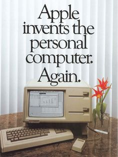 #Apple Computer #Retro Ad 80's — The Lisa. Anak Steve #Jobs yg jadi inspirasi.